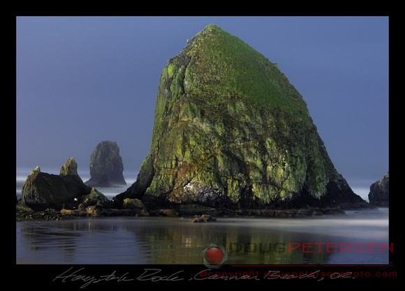 Haystack Rock At Midnight, Cannon Beach, OR
